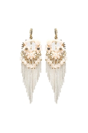 Nadya's Closet Chain & Bead Chandelier Earrings - Front cropped