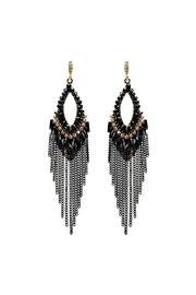 Nadya's Closet Chain & Bead Hook Earrings - Front cropped
