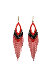 Nadya's Closet Chain & Bead Hook Earrings - Product Mini Image