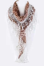 Nadya's Closet Cheetah Triangle Scarf - Product Mini Image