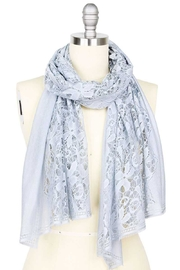 Nadya's Closet Chic Flower Pattern Lace Scarf - Front cropped