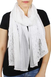 Nadya's Closet Chic Flower Pattern Lace Scarf - Product Mini Image