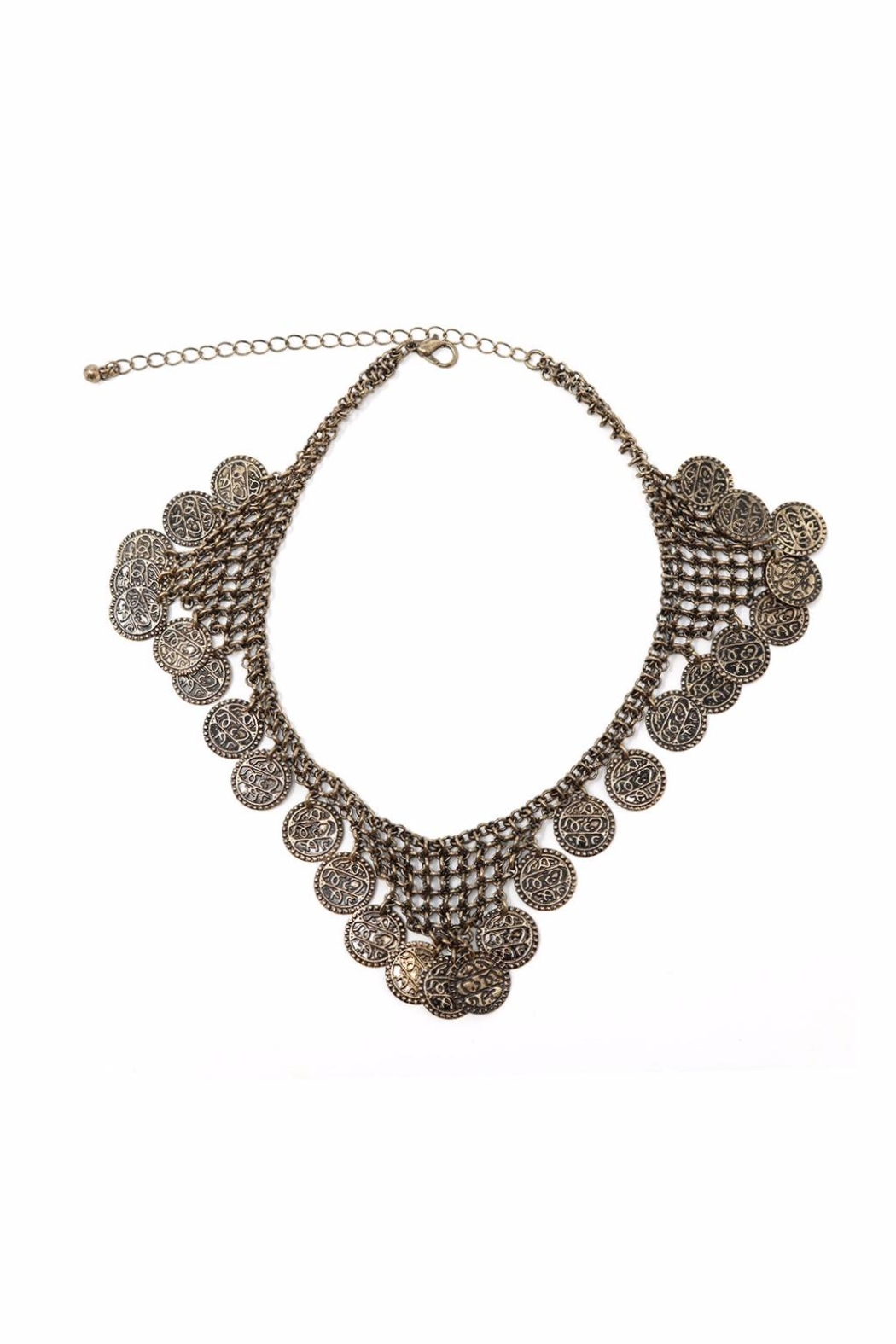 Nadya's Closet Coin Accent Choker - Front Cropped Image