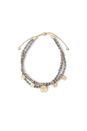 Nadya's Closet Coin Charm Beaded Bracelet - Front cropped