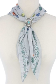 Nadya's Closet Concho Scarf Slide - Front cropped