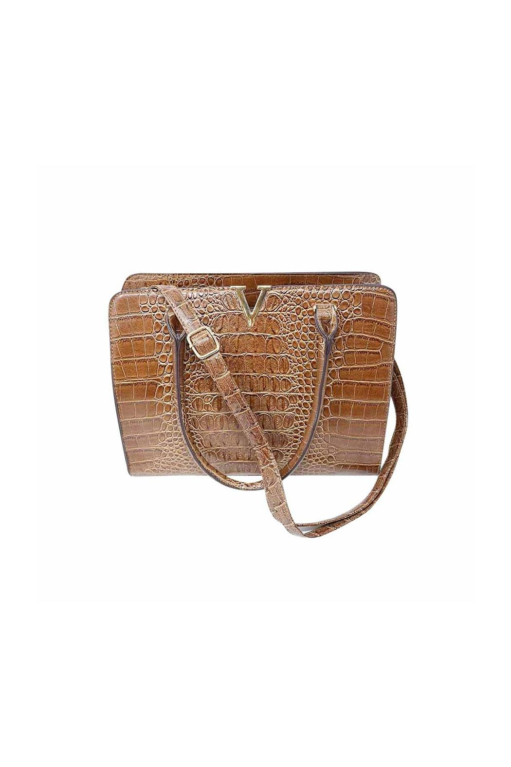 Nadya's Closet Croc Accent Bag - Main Image