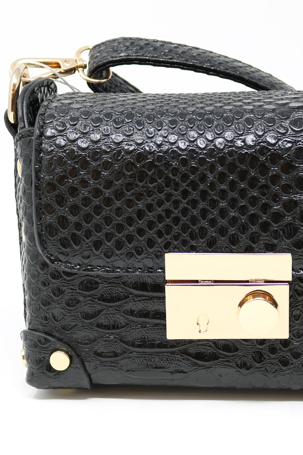 Nadya's Closet Croc Accent Mini-Bag - Front Full Image