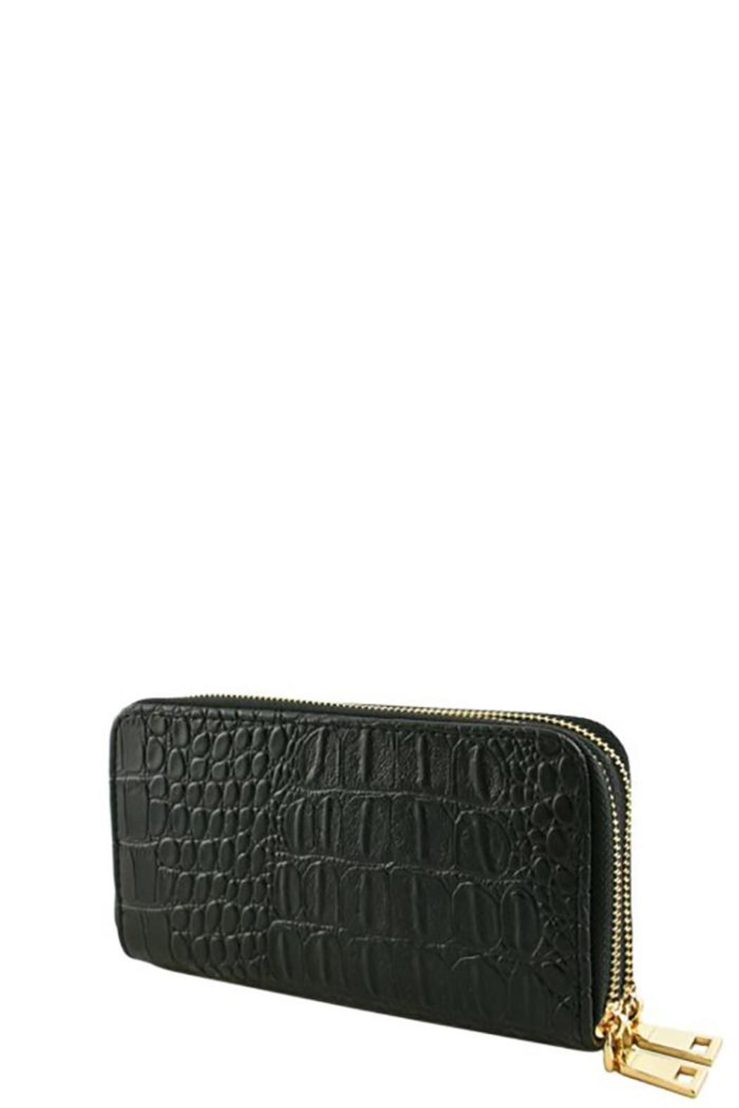 Nadya's Closet Croc Accent Wallet - Front Cropped Image