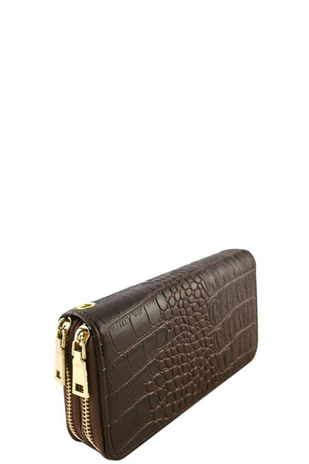 Nadya's Closet Croc Accent Wallet - Side Cropped Image