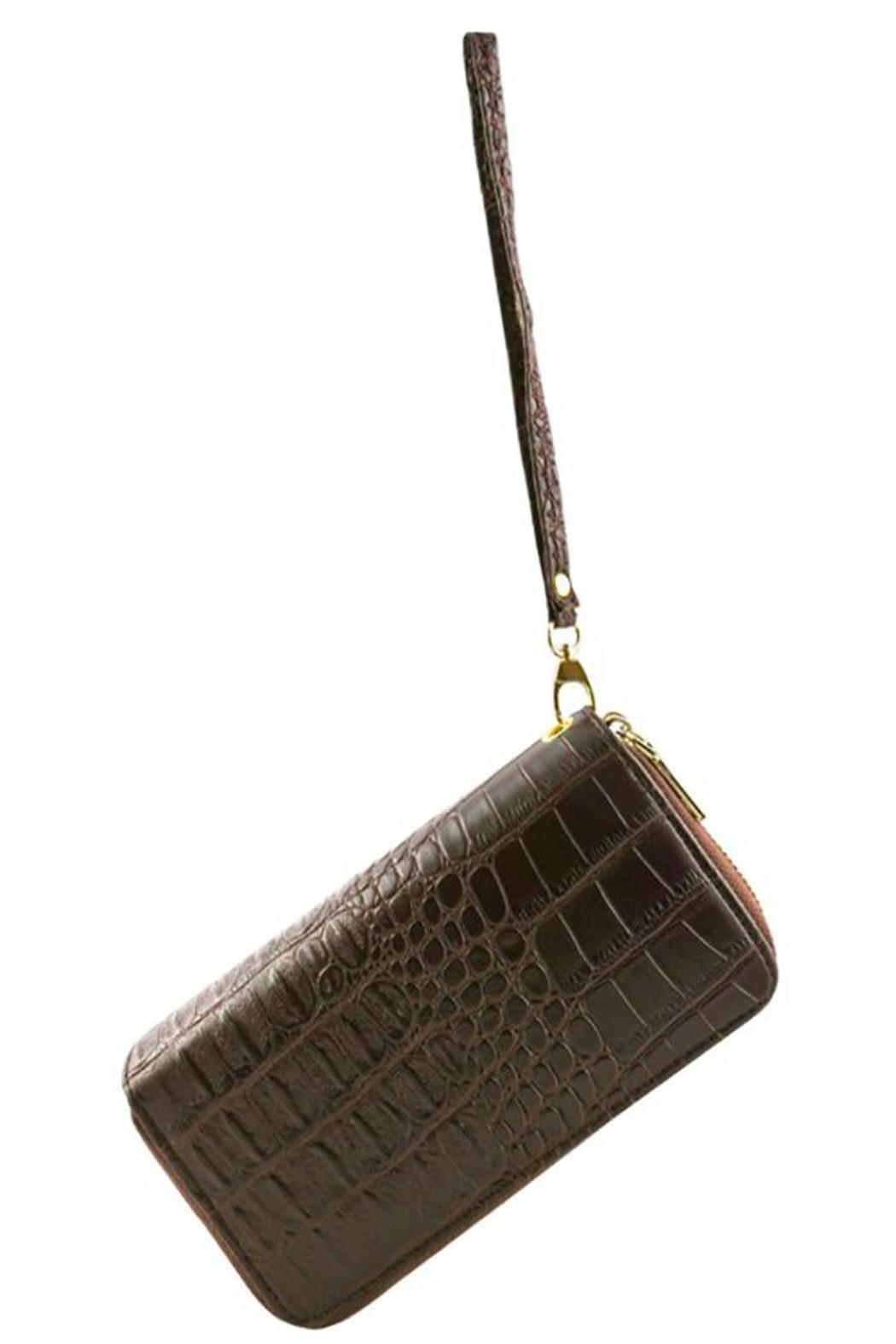 Nadya's Closet Croc Accent Wallet - Front Full Image