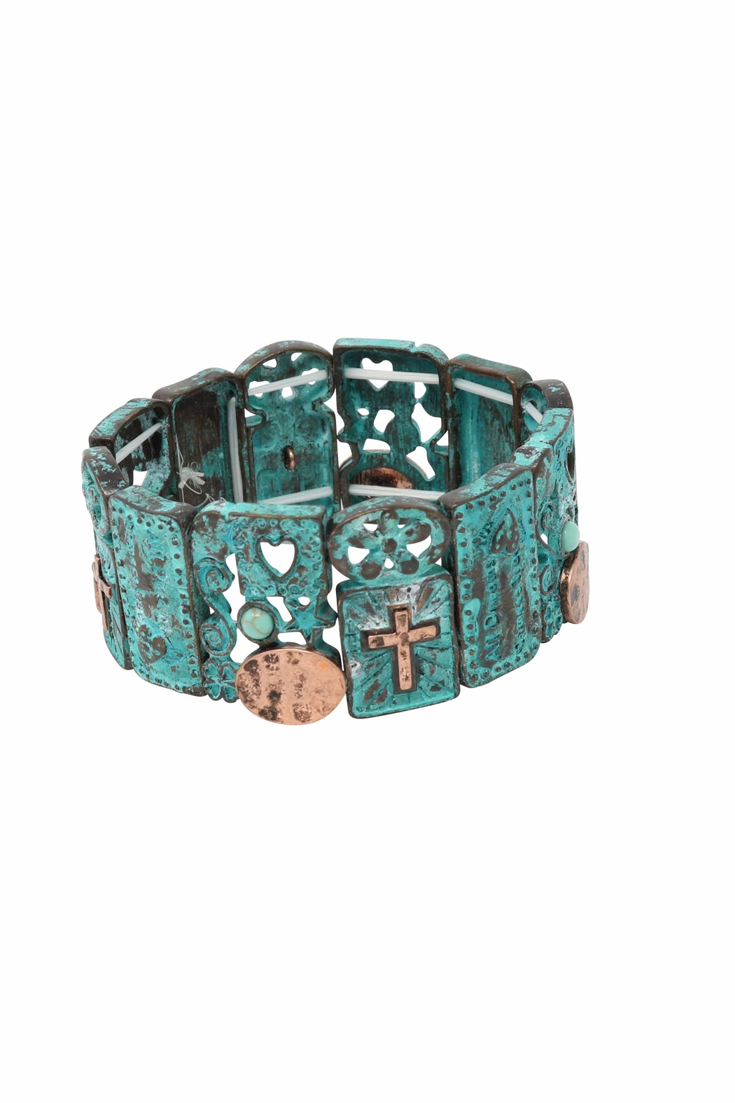 Nadya's Closet Cross Accent Bracelet - Front Cropped Image