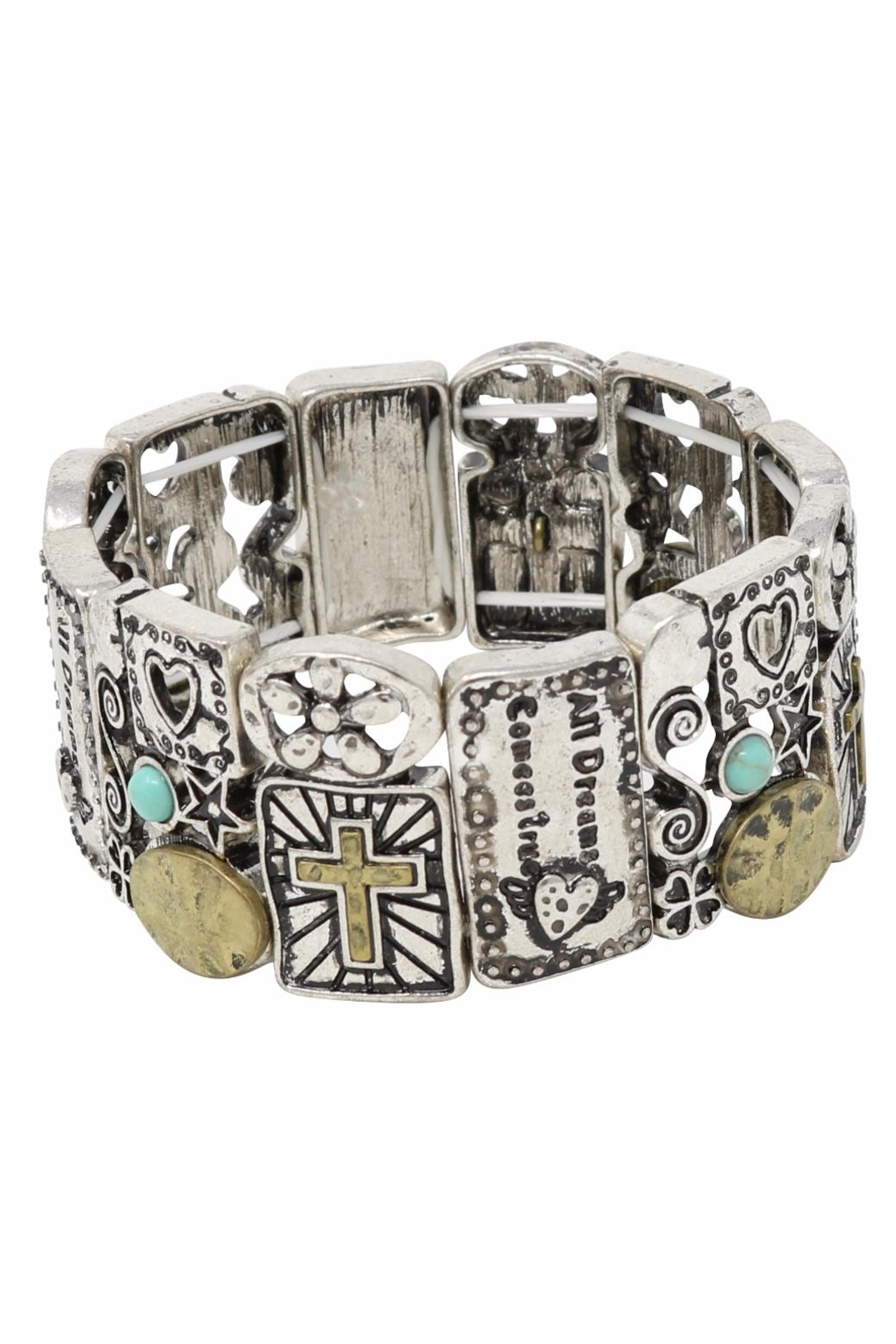 Nadya's Closet Cross Accent Bracelet - Front Full Image