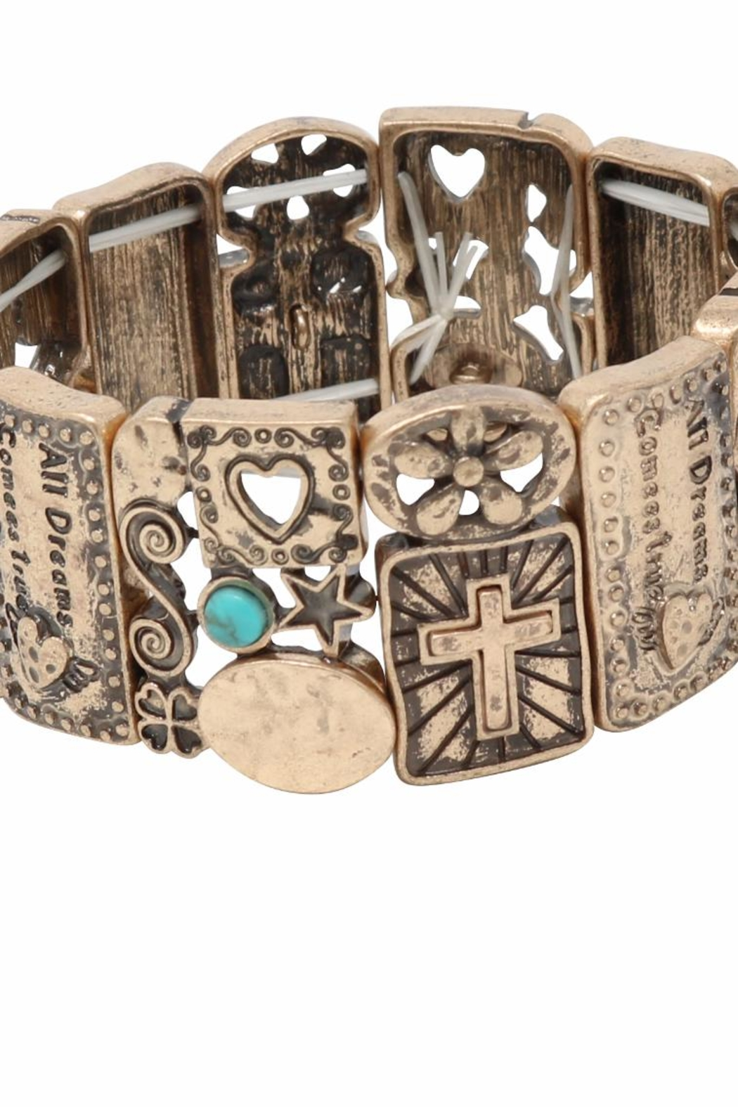 Nadya's Closet Cross Accent Bracelet - Back Cropped Image