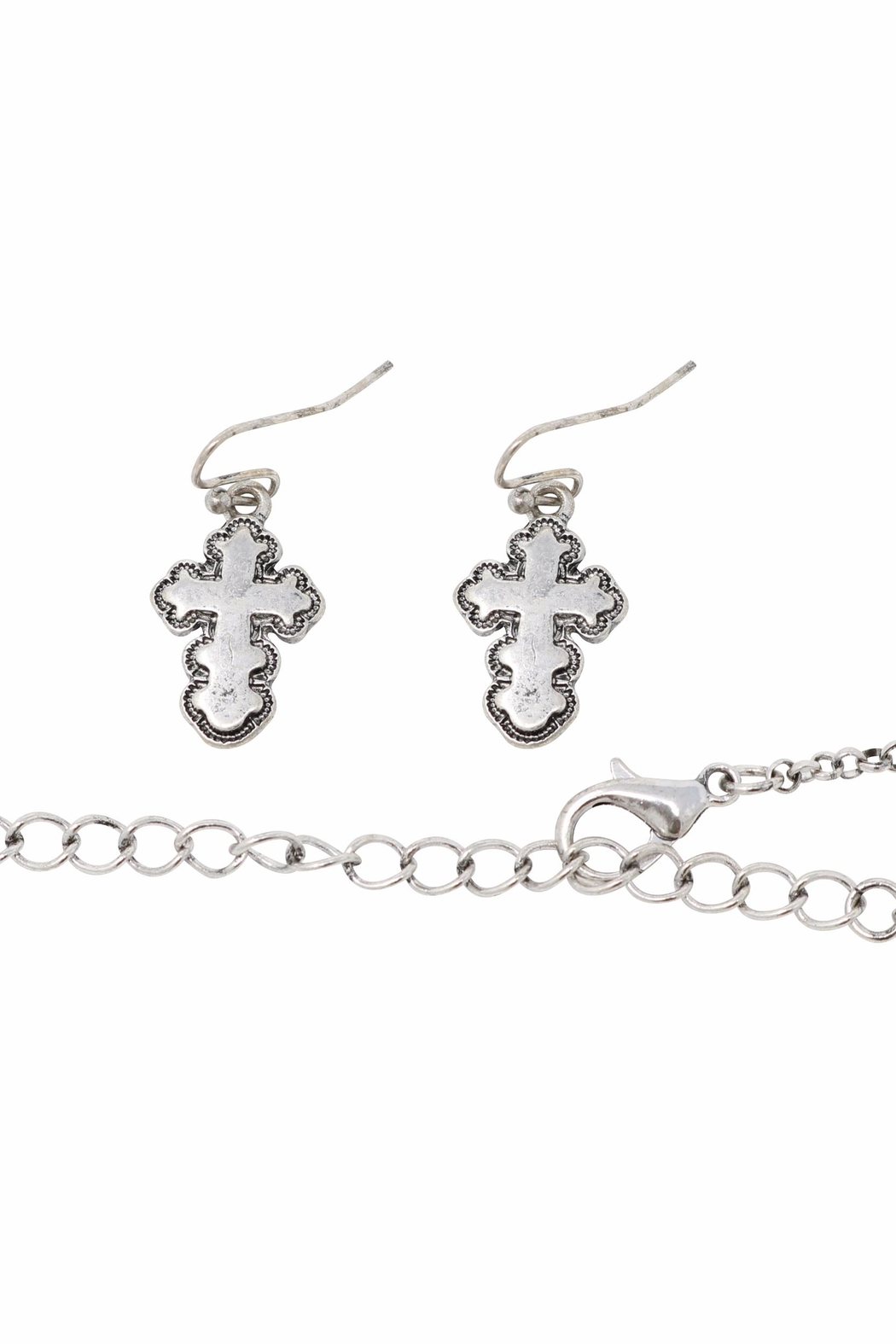 Nadya's Closet Cross Accent Necklace Set - Back Cropped Image