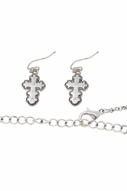 Nadya's Closet Cross Accent Necklace Set - Back cropped