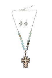 Nadya's Closet Cross Accent Necklace Set - Product Mini Image