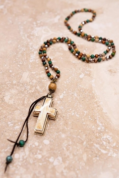 Shoptiques Product: Cross And Tassel Necklace