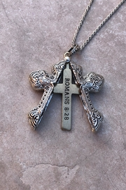 Nadya's Closet Cross Message Locket-Necklace - Front full body