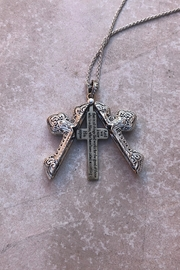 Nadya's Closet Cross Message Locket-Necklace - Side cropped