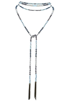 Shoptiques Product: Crystal Bead Long Tassel Necklace/belt