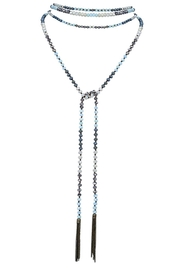 Nadya's Closet Crystal Bead Long Tassel Necklace/belt - Product Mini Image
