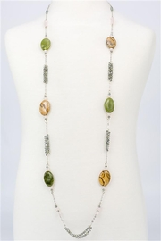 Nadya's Closet Crystal Bead Metal Necklace - Product Mini Image