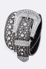 Nadya's Closet Crystal Buckle Belt - Front cropped