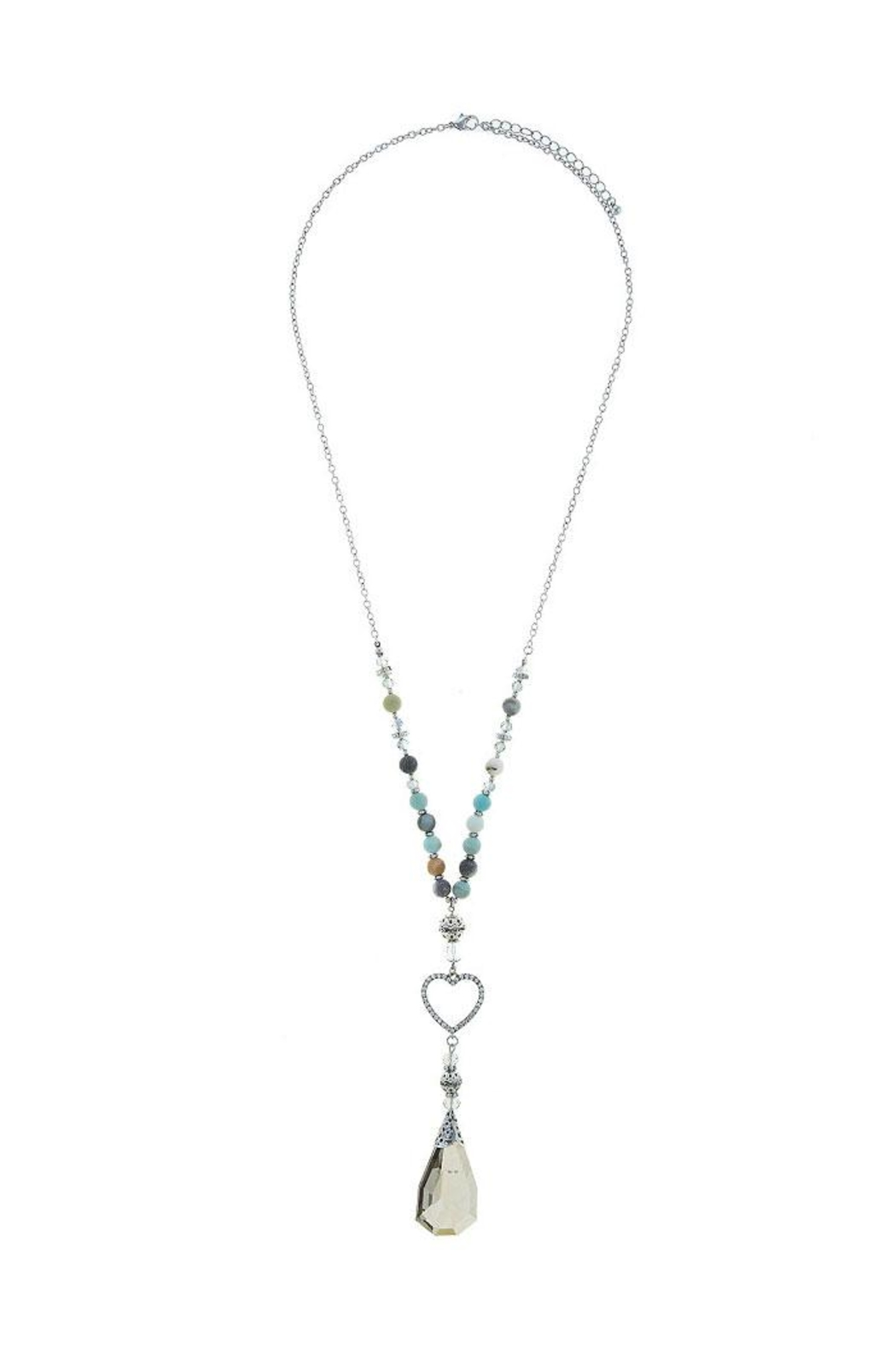 Nadya's Closet Crystal Charm Beaded-Necklace - Front Full Image