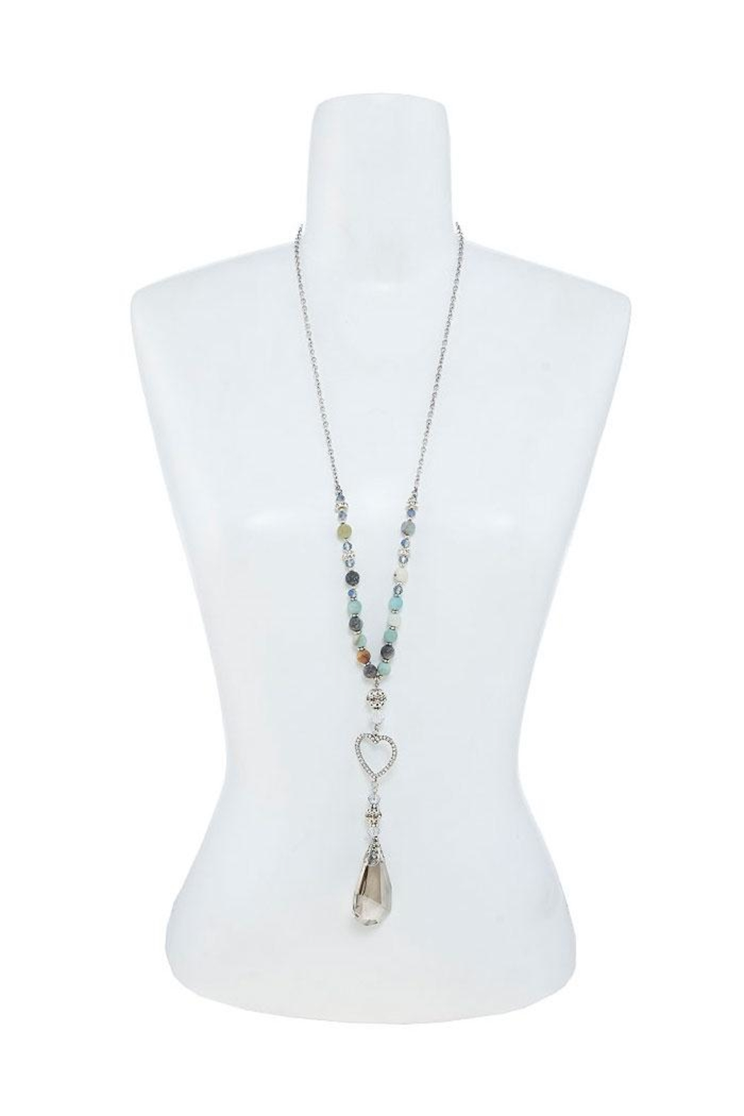 Nadya's Closet Crystal Charm Beaded-Necklace - Side Cropped Image
