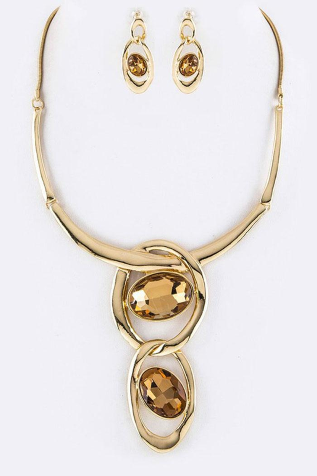 Nadya's Closet Crystal Collar Necklace-Set - Front Cropped Image