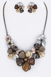 Nadya's Closet Crystal Flower Necklace - Front cropped