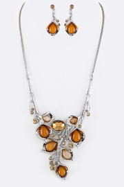 Nadya's Closet Crystal Flowers Necklace-Set - Front cropped