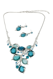 Nadya's Closet Crystal Flowers Necklace Set - Product Mini Image