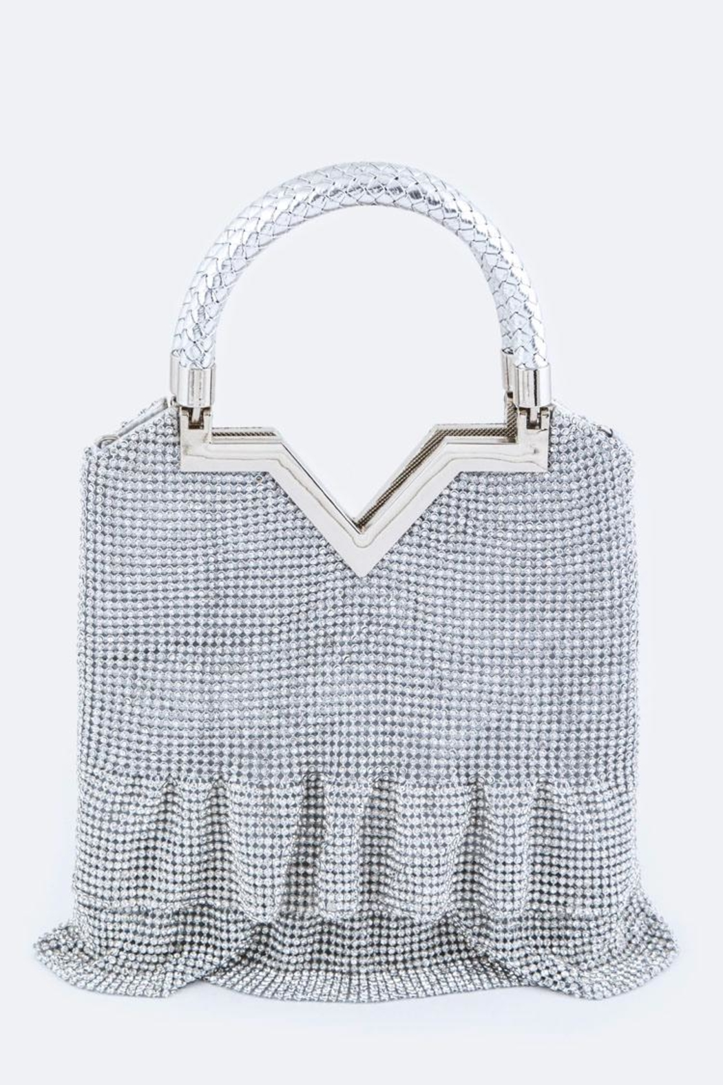 Nadya's Closet Crystal Frill Evening-Clutch - Front Cropped Image