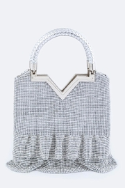 Nadya's Closet Crystal Frill Evening-Clutch - Front cropped