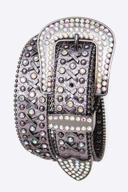 Nadya's Closet Crystal Metallic Leather Belt - Product Mini Image