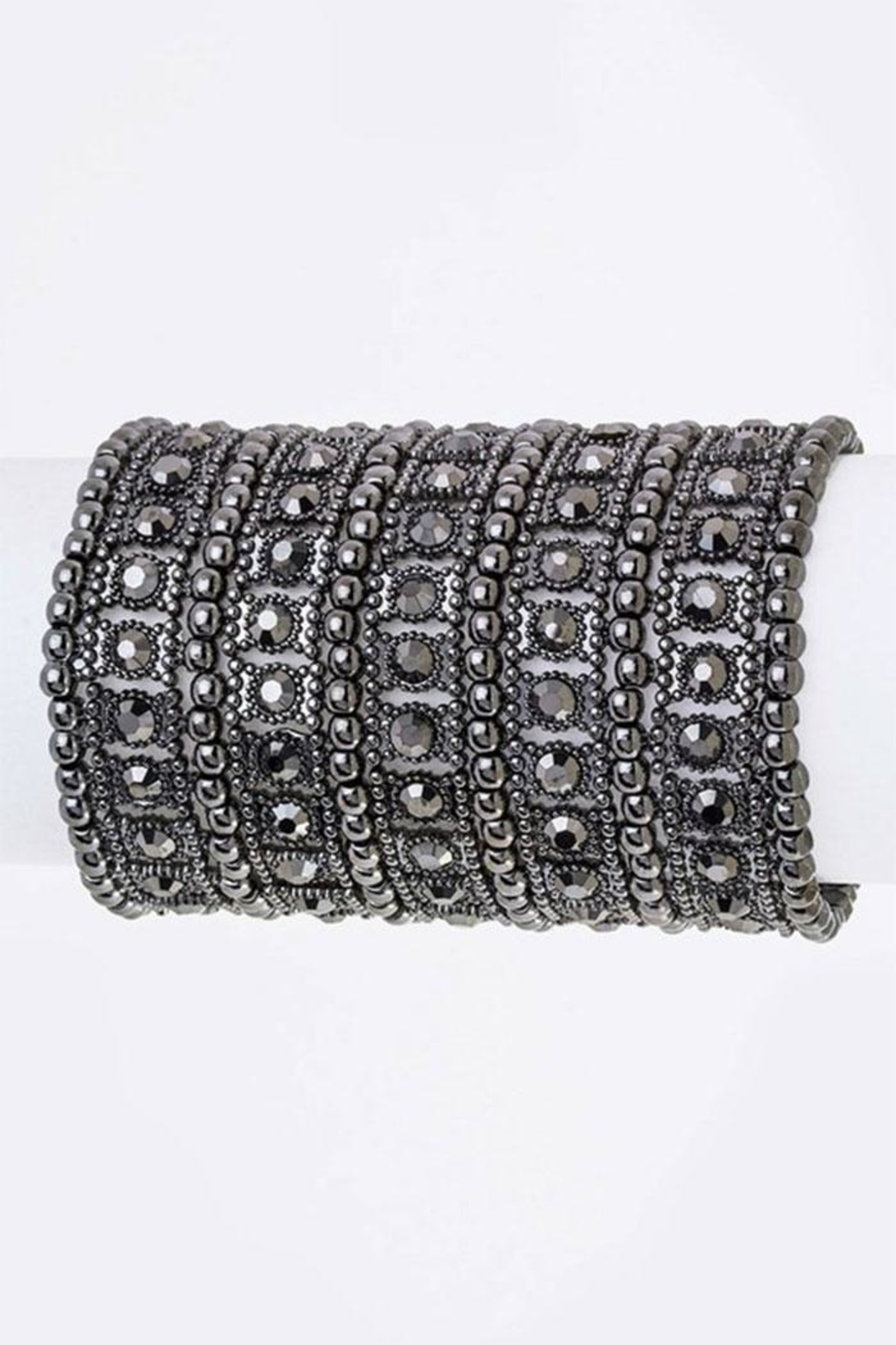 Nadya's Closet Crystal Statement Bracelet - Front Cropped Image