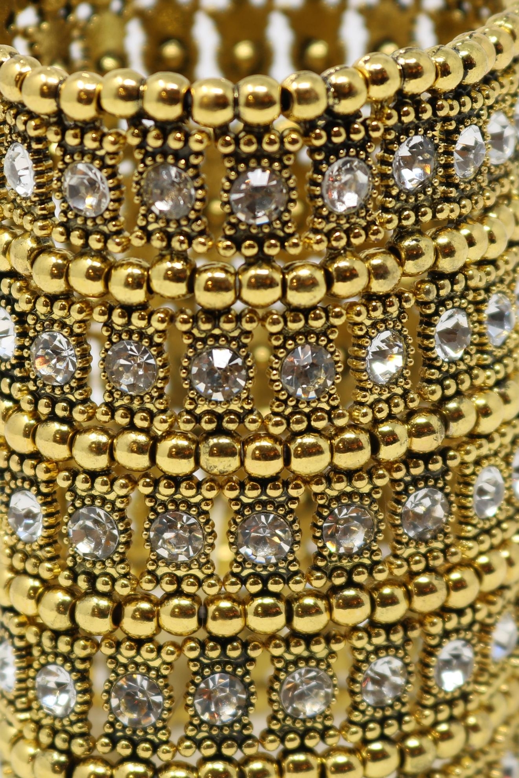 Nadya's Closet Crystal Statement Bracelet - Side Cropped Image