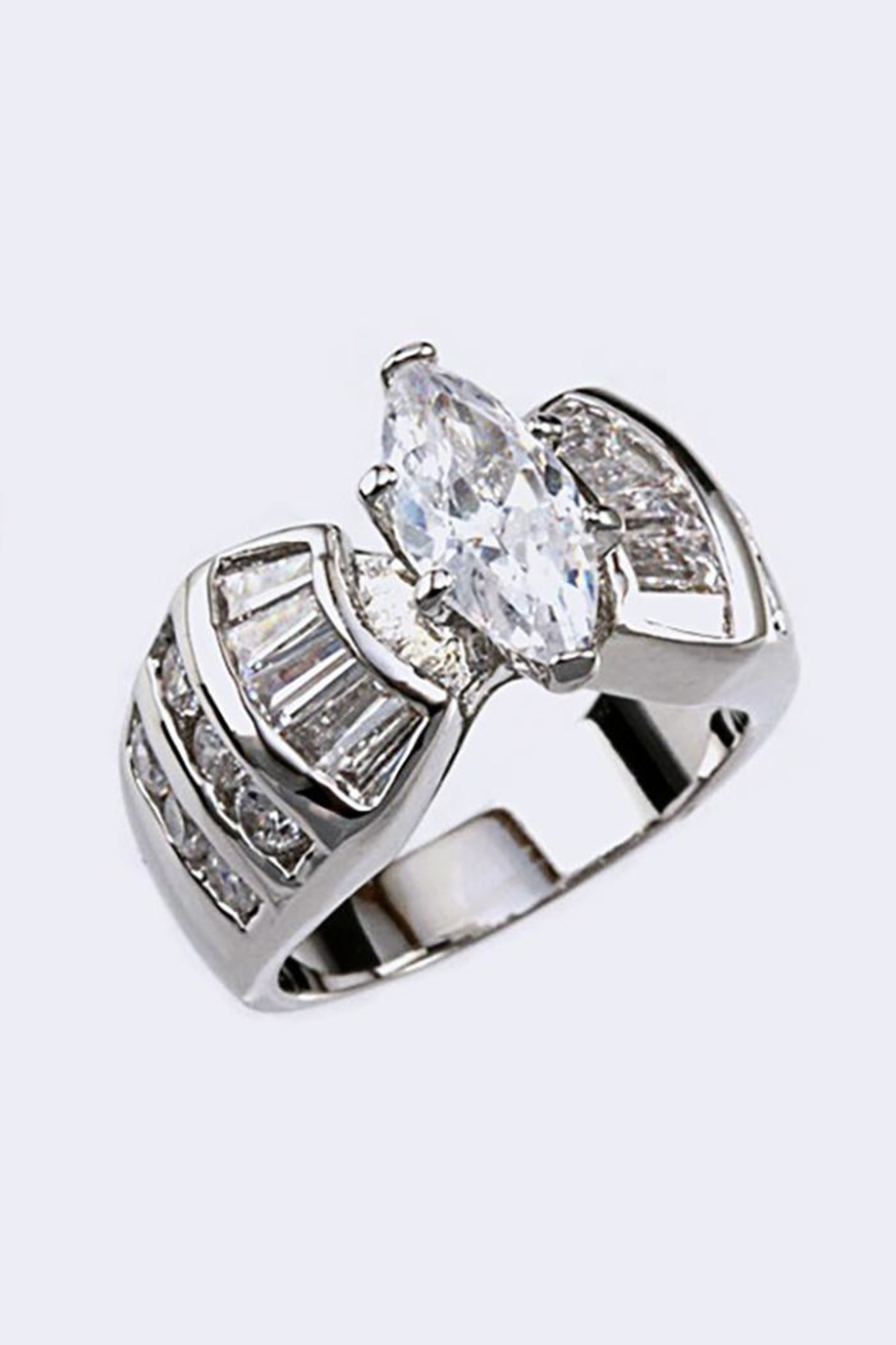 Nadya's Closet Cubic Zirconia Ring - Side Cropped Image