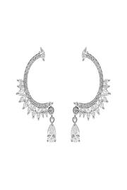 Nadya's Closet Cz Drop Post Earrings - Front cropped