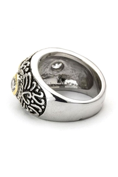 Shoptiques Product: Cz & Swirl Textured-Ring