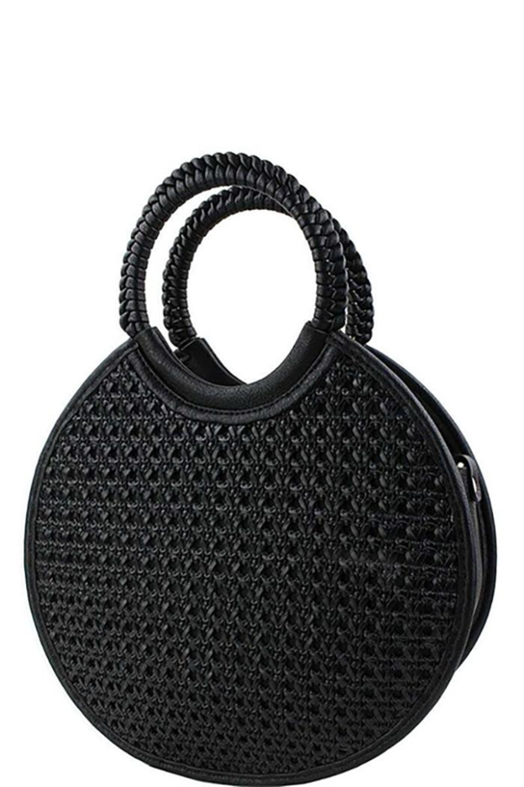 Nadya's Closet Designer Chic-Woven Round-Satchel - Front Cropped Image