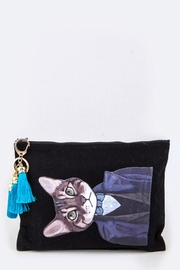 Nadya's Closet Detective Cat Tasseled-Pouch - Front cropped