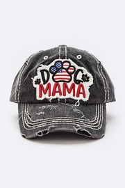 Nadya's Closet Dog Mama Distressed Vintage Cap - Front cropped