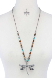 Nadya's Closet Dragonfly Beaded Necklace - Front cropped