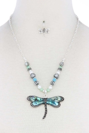 Nadya's Closet Dragonfly Fashion Necklace - Front cropped