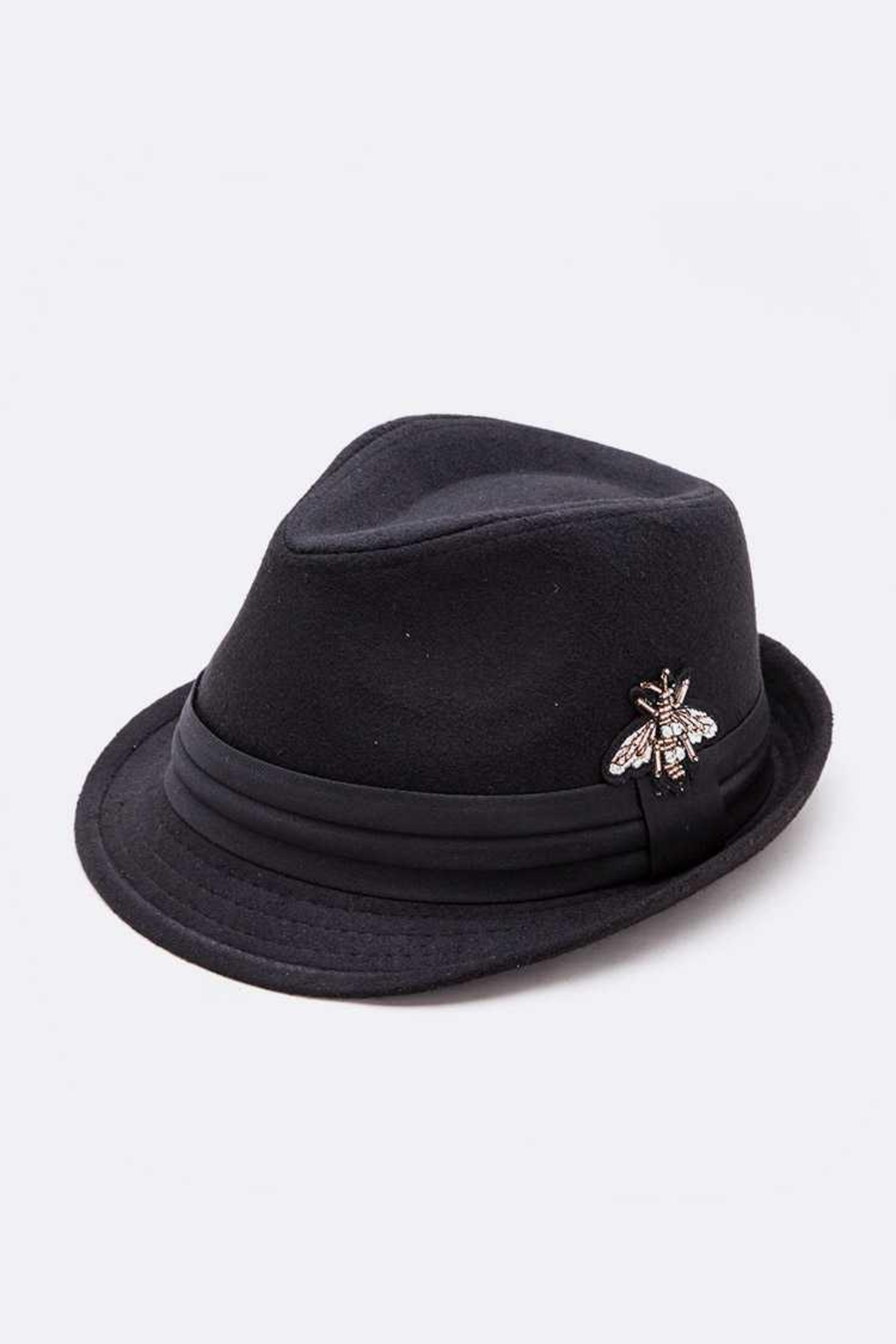 Nadya's Closet Embroidered Bee Fashion Fedora - Main Image