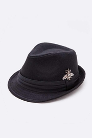 Nadya's Closet Embroidered Bee Fashion Fedora - Front cropped