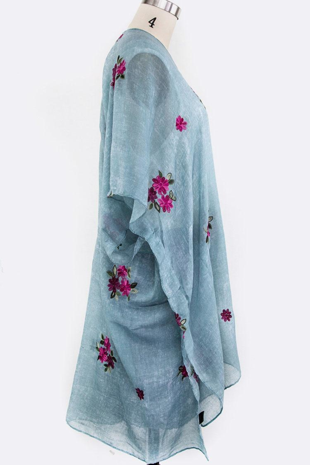 Nadya's Closet Embroidered Floral Cardigan - Side Cropped Image