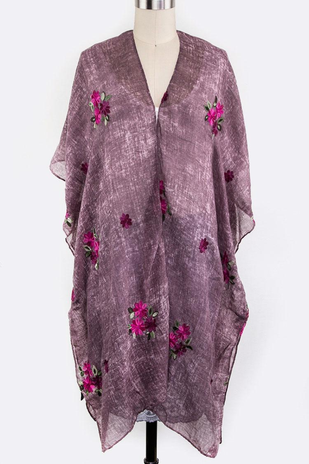 Nadya's Closet Embroidered Floral Cardigan - Main Image